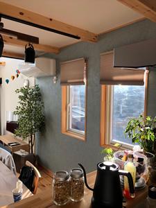 キッチンから見えるダイニング。まるでカフェのような雰囲気。