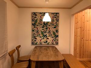 北欧カーテンを絵画のように鑑賞できる設計に。