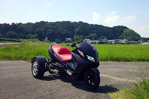 初めて購入したスカイウェイブトライク。スズキの250ccスクーター・スカイウェイブをトライク専門店で改造したもの